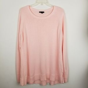 H by Halston XL Scoop Neck Pink Sweater